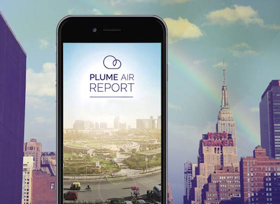 Plume Air Report: an app tells you about the air pollution quality