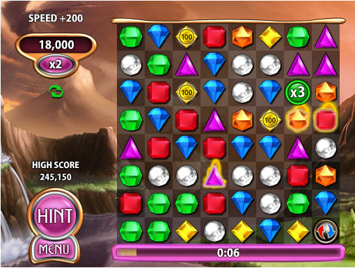 One of the popular puzzle games in 2015-Bejeweled Blitz 02