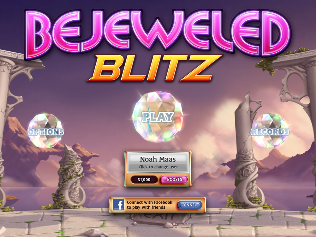 One of the popular puzzle games in 2015-Bejeweled Blitz 03