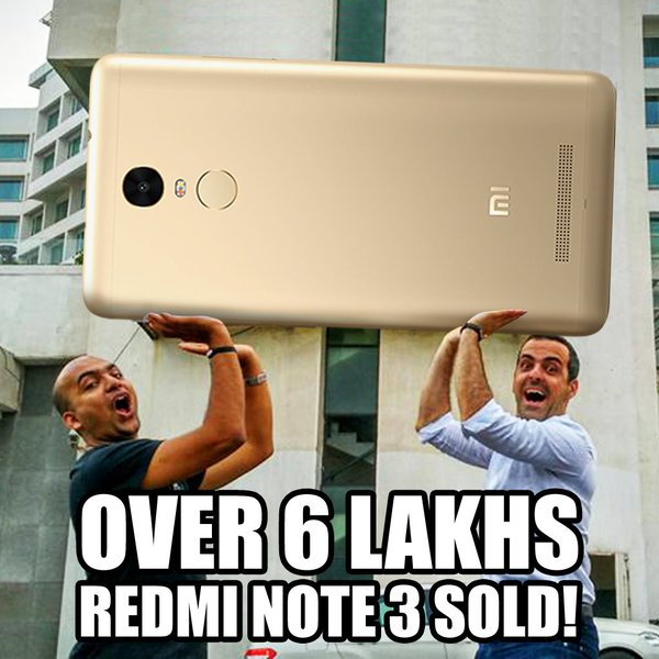 Redmi Note 3 sale 600,000 in total 02
