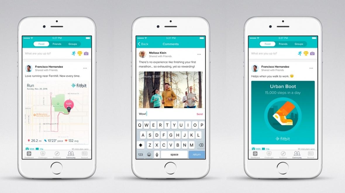 Fitbit's big app update for 2017: Facebook-style feed
