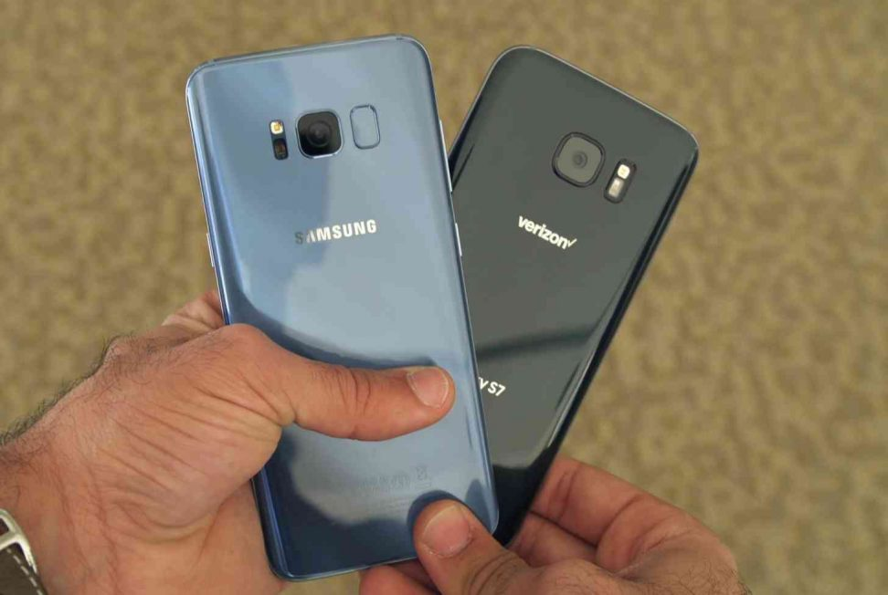 Galaxy s8 and s7