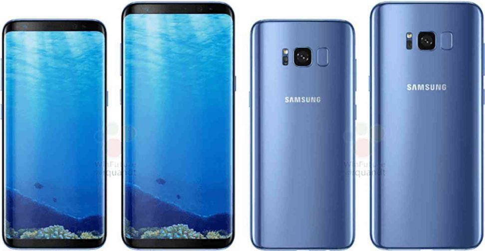 galaxy s8 blue leak